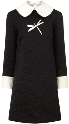 Pin for Later: These 35 Dresses Prove That Modest Doesn't Mean Boring  A.W.A.K.E. black jacquard contrast collar dress (£790)