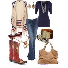 Everything looks better with a good pair of cowboy boots! Country Outfits, Western Outfits, Western Wear, Fall Outfits, Cute Outfits, Fashion Outfits, Womens Fashion, Fashion Trends, Style Fashion