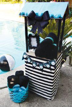 Tiffany Theme Pool Party {Glam Summer Splash!}