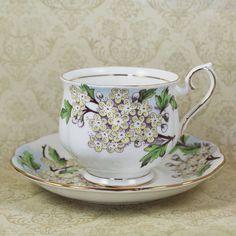 Vintage Royal Albert Flower of the Month Hawthorn by scdvintage, $30.00