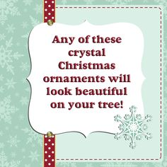 This is a lovely collection of different crystal ornaments. #christmas #crystal #ornament #ornaments #christmasornament #christmasornaments #cyrstalornament #cyrstalornaments