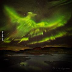 Aurora from a couple of days ago above Iceland - 9GAG