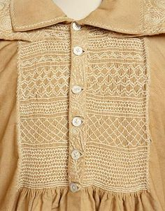 English Smocks or smock-frocks were the traditional garb of country labourers and agricultural workers in the eighteenth century, dating back to much earlier times, and remaining popular in some areas well into the nineteenth century. Smocks became associated with a nostalgic and rural way of life,