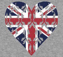 Union Jack Sherlock Wallpaper Heart par cumberqueen