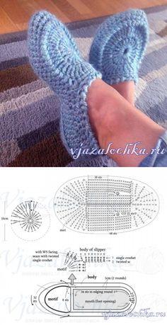 Learn To Crochet Cute Flower Slippers Crochet Slipper Pattern, Crochet Motif, Crochet Stitches, Knit Crochet, Learn To Crochet, Easy Crochet, Free Crochet, Knitting Patterns, Crochet Patterns