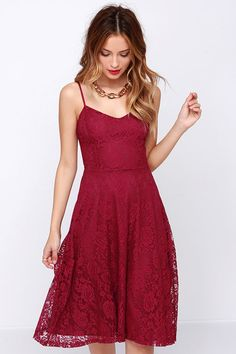 On the Boulevard Burgundy Lace Midi Dress at Lulus.com!