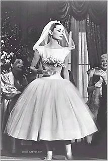 Audrey Hepburn's 50's Wedding Dress