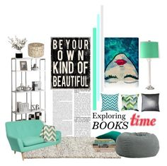 """Exploring Book's Time!!!"" by homethinker ❤ liked on Polyvore featuring interior, interiors, interior design, home, home decor, interior decorating, Monarch Specialties, HAY, DwellStudio and Comfort Research"
