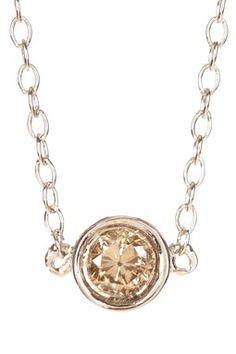 Champagne Diamond Charm Necklace - 0.09 ctw