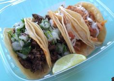 Tacos at La Taqueria in Vancouver