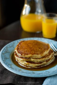Sweet Potato Pancakes - If you love sweet potato pie, pumpkin pie, pumpkin bread, or all of the above, these pancakes are for you.
