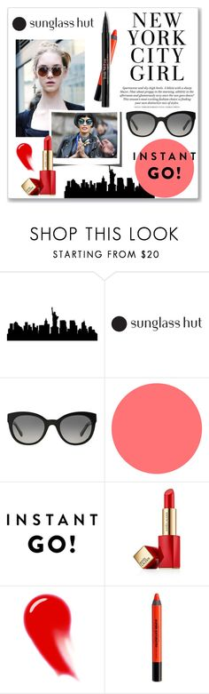 """Shades of You: Sunglass Hut Contest Entry"" by hellodollface ❤ liked on Polyvore featuring Burberry, Estée Lauder, NARS Cosmetics, Urban Decay, Trish McEvoy and shadesofyou"