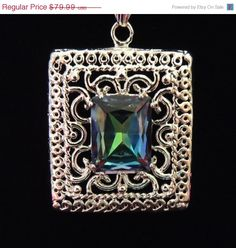 GREAT GIFT SALE - Mystic Rainbow Topaz Sterling Silver Necklace