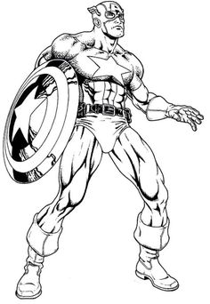 the avenger hero captain america coloring page - Captain America Pictures To Color