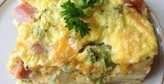 Un déjeuner santé...Brocoli, oeufs, jambon et fromage. Tout simplement savoureux !