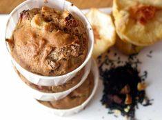 Peach & Spice Tea Muffins--sounds like a great fall breakfast