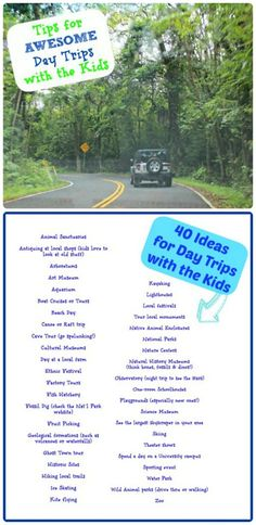 Awesome list of 40+ places to visit for summer day trips with the kids -- perfect for family outings & summer learning!