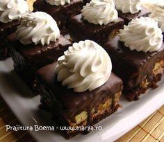 Prajitura Boema Hungarian Cake, Romanian Food, Romanian Recipes, Sweets Recipes, Desserts, Cookie Cups, Food To Make, Yummy Food, Favorite Recipes