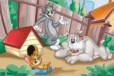 What was the name of the dog in the 'Tom and Jerry' cartoons? Best Cartoons Ever, Cool Cartoons, Tom And Jerry Wallpapers, William Hanna, Tom And Jerry Cartoon, Disney Toms, Christmas Tree Crafts, Hanna Barbera, Cute Cartoon Wallpapers