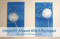 Simple DIY Artwork With A Big Impact | The Small Stuff Counts Blog