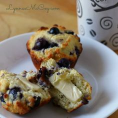 Deliciously Moist Lemon-Blueberry Muffins - Low Carb & Gluten Free
