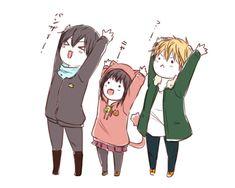 Characters: Yato, Hiyori & Yukine Anime: Noragami ... - Anime Fanarts