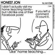 Hometeaching on FB counts! Lds Memes, Lds Quotes, Funny Cartoons, Funny Jokes, Hilarious, Love Me Quotes, Great Quotes, Church Jokes, Mormon Humor