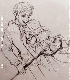 Jack Frost Und Elsa, Jack And Elsa, Jelsa, Sailor Princess, Princess Luna, Pinturas Disney, Disney Crossovers, Disney Couples, Illustrators On Instagram