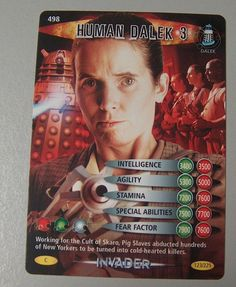 DOCTOR WHO  BATTLES IN TIME TRADING CARD  HUMAN DALEK 3  CARD No. 498