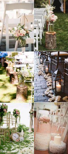 vintage wedding aisle decoration ideas for 2018