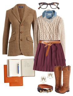 """Houndstooth Homecoming"" by prepstepkate ❤ liked on Polyvore featuring Polo Ralph Lauren, J.Crew, Mark & Graham, Isabel Marant, Frye, Saks Fifth Avenue and Brooks Brothers"