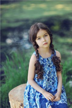 Russian child model Alisa Bragina.