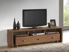 "Free Shipping. Buy Techni Mobili Palma 3 Drawer TV Cabinet, Multiple finishes for TVs up to 70"" at Walmart.com"