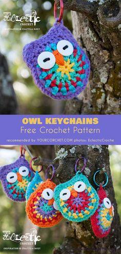 Owl Keychains Free Crochet Pattern | Your Crochet