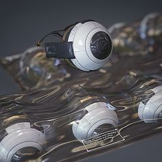 Cyber Eye Augmentations | Deus Ex Fan-Art, Harley Wilson on ArtStation at https://www.artstation.com/artwork/g15DL