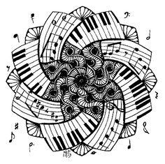 """iColor """"Mandalas""""Mandala Piano (762x750)"""