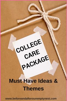 College Care Package Must Have Items And Themes - Before & After Our Empty Nest Great ideas, tips, and themes for Care Packages for College Students! College Mom, College Student Gifts, College Students, College Notes, College Hacks, I Care Packages, College Care Packages, College Presents, Cash Gift Card