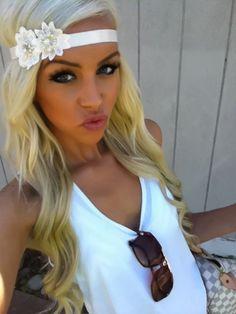 blonde hair, cute headband...like it