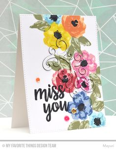 Hey everyone! Thanks for joining me at thestart of Junerelease week for My Favorite Things! For Countdown Day 5, we're showcasing the Watercolor Flowers Stamp set and co-ordinating dies, the Writ…