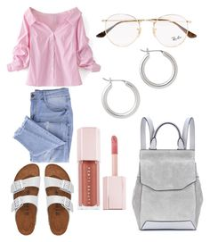"""Untitled #32"" by frid1445 on Polyvore featuring Ray-Ban, Essie, WithChic, Birkenstock, rag & bone, Puma and Halogen"