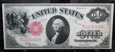 1917 US 1 Dollar Red Seal Legal Tender Note by TNJewelers on Etsy, $299.99