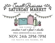 Still accepting applications!!! @733arts #repost NOVEMBER 24TH #smallbussinesssaturday  #tacoma #shoplocaltacoma #handmade#supportsmallbusiness #happyholidays#celebratetacoma #shoptacoma#pnwvendor #pnwartist #pnwmaker#pnwsmallbusiness #pnwholiday#pnwshopping #wavendors #wamaker#handmadetacoma #handmadepnw W E L C O M E !  We're excited about this one and thus we have some fun things in-store for guests and vendor's  50% of the proceeds from this event will benefit  Tacoma Urban Performing… Small B, Food T, T Art, How To Make Chocolate, Performing Arts, Have Some Fun, Fun Things, Store, Instagram