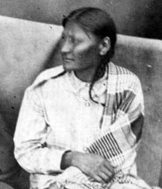 Mochi, a Southern Cheyenne, became a warrior  after her experiences in the brutal and unprovoked 1864 Sand Creek Massacre of peaceful native Americans by US army troops