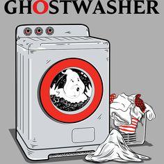 Camiseta 'GHOSTWASHER' - Catalogo Camiseteria.com | Camisetas Camiseteria.com - Estampa, camiseta exclusiva. Faça a sua moda!