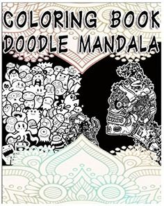 Adult Doodle Mandala Coloring Book The Therapeutic Science Relax Meditation