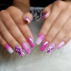 ♡Products used♡ ❥ Glitter Blendz 'Holo Orchid Ice' ❥from www.cakesincnails.com