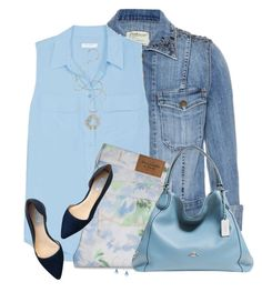 """""""Casual Spring Day"""" by daiscat ❤ liked on Polyvore featuring Current/Elliott, Equipment, Abercrombie & Fitch, Coach, Lara Bohinc and Cole Haan"""