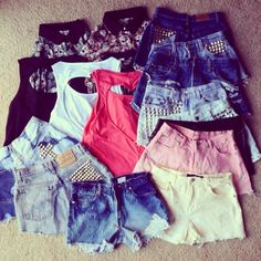 I love the backless shirts and studded high waisted shorts :)