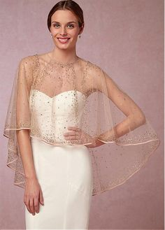 DressilyMe Bridal Dresses Online,Wedding Dresses Ball Gown, exquisite tulle jewel neckline wedding shawl with beadings Wedding Cape, Bridal Cape, Wedding Shawl, Wedding Party Dresses, Bridal Gowns, Cape Dress, Dress Up, Tulle, Wedding Dress Accessories