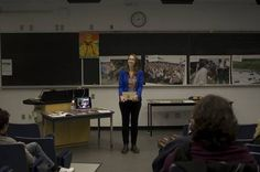 Queen's University's Alexandra Pedersen presenting during the week of action re: Canadian mining in Latin America. Congrats!